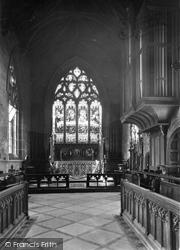 Holbeach, All Saints Parish Church, The Altar And Organ c.1955