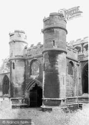 Holbeach, All Saints Parish Church, The North Door c.1955