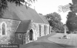 Holcombe, The Church And Memorial c.1960