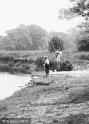 Fishing On The River Stour c.1965, Holdenhurst