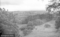 Holford, Alfoxton Park, C.E Guest House, View From Deer Park c.1955