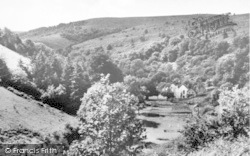 Holford, Combe House Hotel From The Hills c.1955