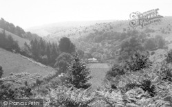 Holford, Combe House Hotel, From The Hills c.1960