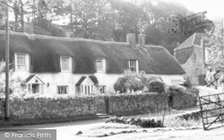 Holford, Thatched Cottages c.1965