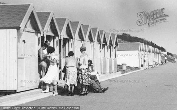 Holland-on-Sea, A Gathering At Beach Huts c.1955