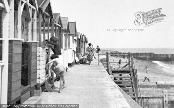 Holland-on-Sea, The Beach Huts c.1955
