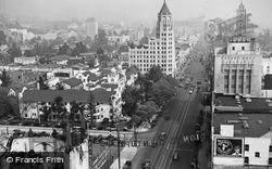 From Roof Of Roosevelt Hotel c.1935, Hollywood
