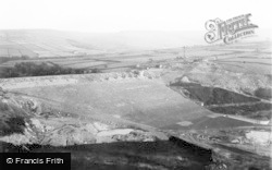 Holmbridge, Digley Reservoir Under Construction c.1948
