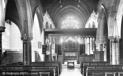St Mary's Church Interior 1906, Holmbury St Mary