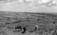 Holmfirth, Holme Valley from Holme Moss c1955