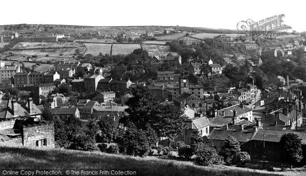 Holmfirth, view from the Park c1955