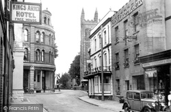Holsworthy, White Horse And Crown And Sceptre Hotels, Fore Street c.1950