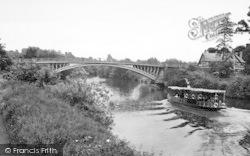 River And Bridge c.1960, Holt Fleet