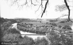 The Lock And Valley c.1955, Holt Fleet