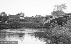 The River And Bridge c.1960, Holt Fleet