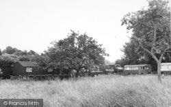 The Wharf Hotel Camping Site c.1960, Holt Fleet