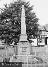 Holt, the War Memorial c1960