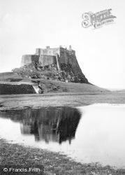 Holy Island, Lindisfarne Castle c.1960