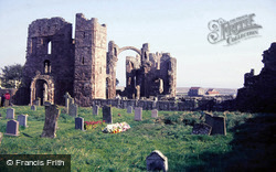 Holy Island, Lindisfarne Priory 1986