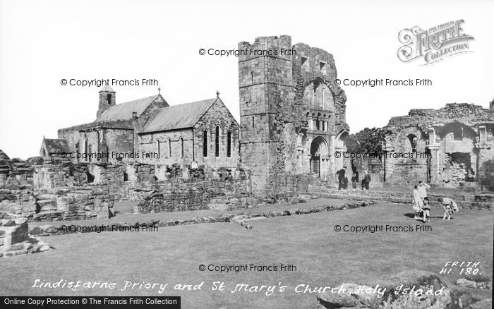Photo of Holy Island, Lindisfarne Priory And St Mary's Church c.1960