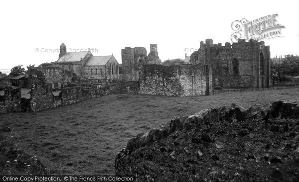 Photo of Holy Island, Lindisfarne Priory c.1950
