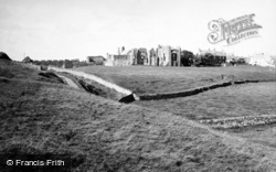 Holy Island, Lindisfarne Priory c.1950