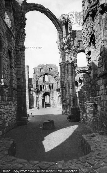 Photo of Holy Island, Lindisfarne Priory, Sandstone Pillar c.1960