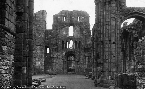 Photo of Holy Island, Lindisfarne Priory, The Nave c.1950