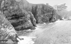 Holy Island, Rocky Coast c.1930