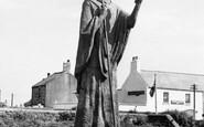Holy Island, St Aidan's Statue c.1960