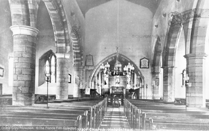 Photo of Holy Island, St Mary's Church Interior c.1940