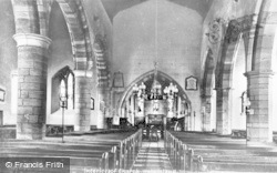 Holy Island, St Mary's Church Interior c.1940