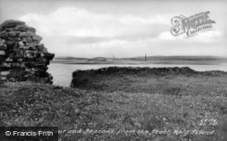 Holy Island, The Harbour And Beacons From The Steel c.1950