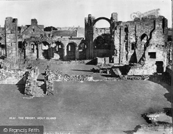 Holy Island, The Lindisfarne Priory c.1950