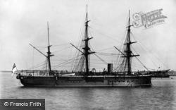 Holyhead, H.M.S.Iron Duke c.1900