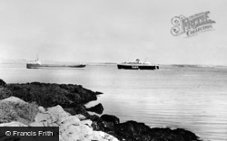 Sealink Leaving The Harbour c.1970, Holyhead