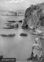 South Stack Lighthouse And Victoria Rock c.1950, Holyhead
