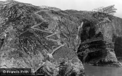 Holyhead, South Stack Suspension Bridge And Steps c.1955