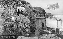 Holyhead, Suspension Bridge, South Stack c.1950