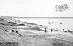 Holyhead, The Beach And Promenade c.1955