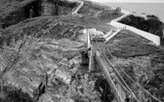 Holyhead, The Suspension Bridge, South Stack Lighthouse c.1966