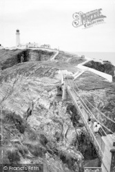 The Suspension Bridge, South Stack Lighthouse c.1966, Holyhead