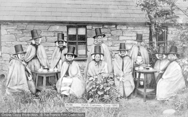 Photo of Holyhead, Welsh Costumes 1894