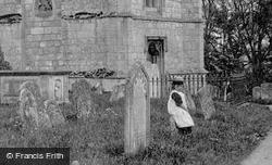 A Girl In The Churchyard 1898, Holywell