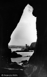 Pinnacle Rock From The Caves c.1960, Holywell Bay