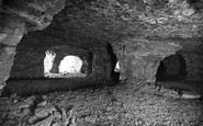 Holywell, interior of the Caves at Holway c1930
