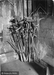 Holywell, Relics Of Healing At St Winefride's Well c.1930