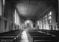 Holywell, The Nave, St Winefride's R.C.Church c.1930