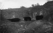 Holywell, the Three Mouth End Cave at Holway c1930