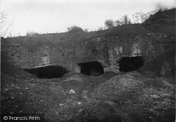 Holywell, The Three Mouth End Cave At Holway c.1930